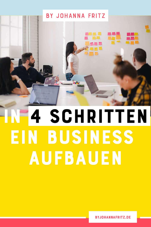 Welche Schritte sind beim Business Aufbau nötig? Hier kommen die vier Schritte von meinem Interviewgast Carolin Hasenpusch auf dem Online Business Geeks Podcast, die wichtig sind, wenn du dir ein Business aufbauen möchtest