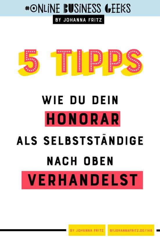 Als Selbstständige Honorare und Gehälter verhandeln - Interview mit Frau Verhandelt By Johanna Fritz