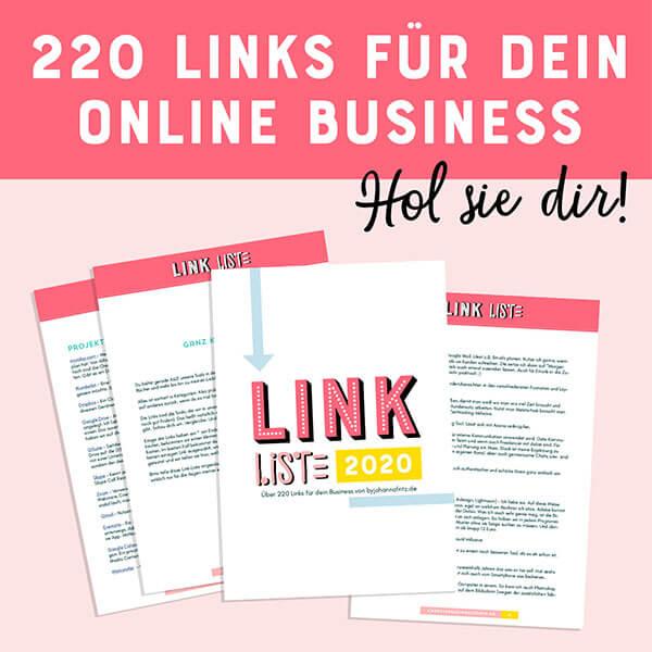 Freebie: Business Tipps, Tools und Bücher - Unsere 220 Linkliste für dein Business Johanna Fritz
