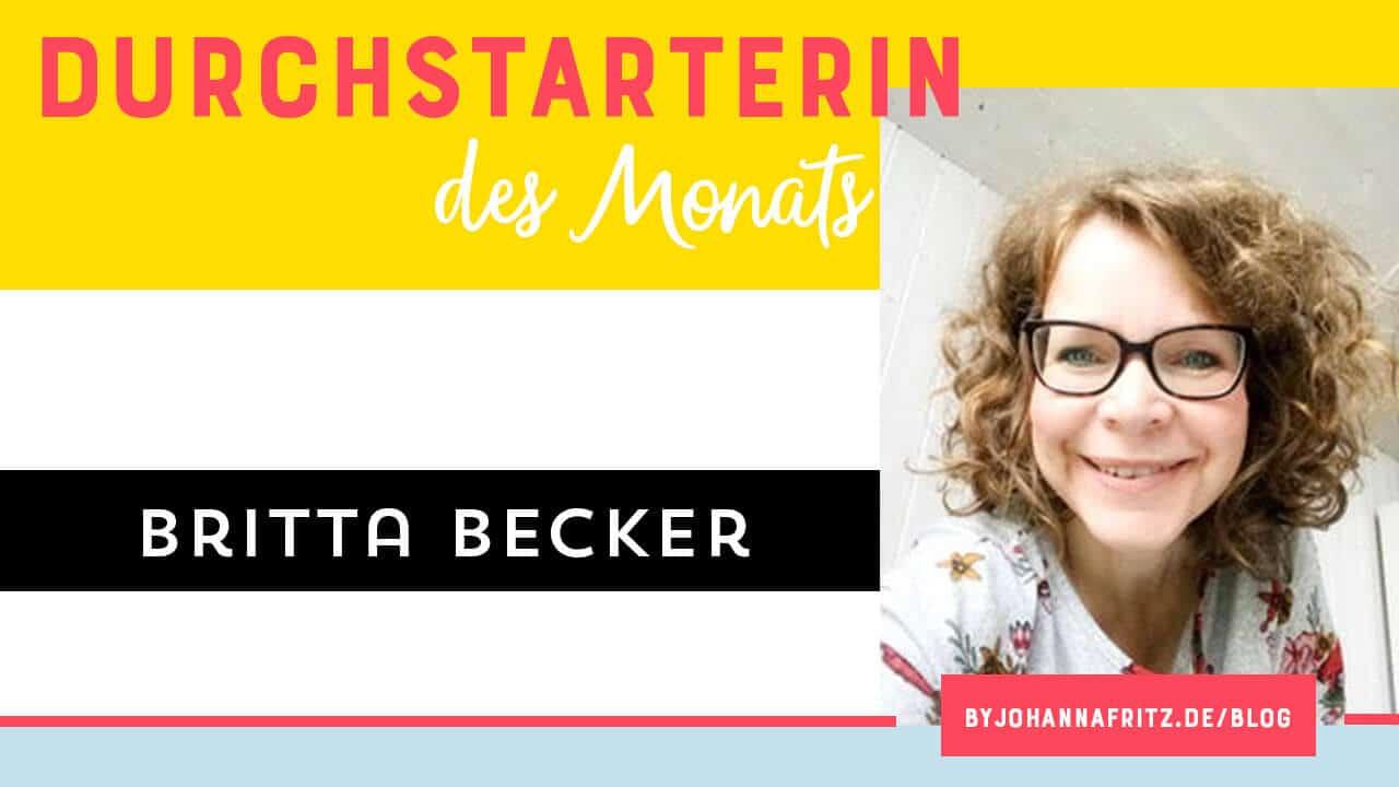 Britta Becker - Coach mit Schwerpunkt auf Marte Meo - Durchstarterin des Monats by Johanna Fritz Online Durchstarten