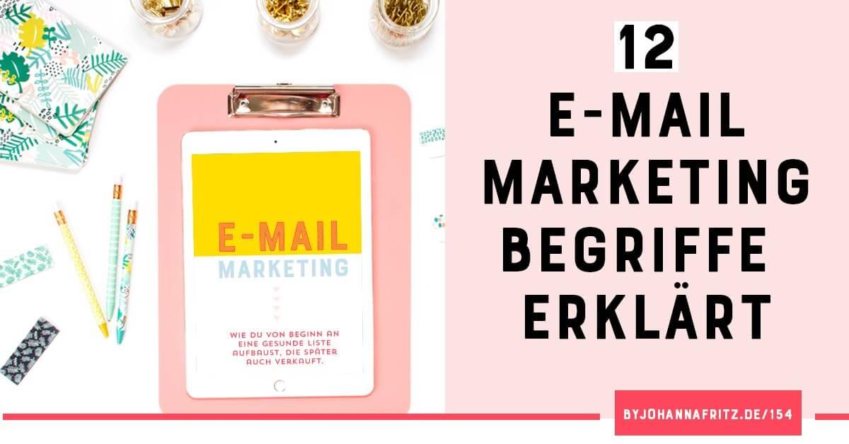E-Mail Marketing Begriffe verstehen