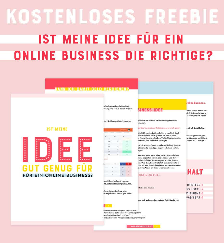Freebie: Start eines Newsletters und Erstellung eines Freebies By Johanna Fritz Online Business Coach
