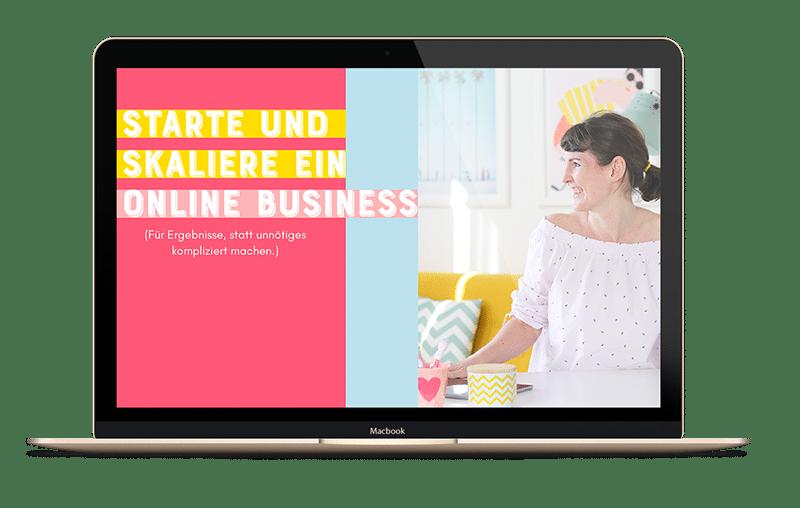 """Kostenloses Webinar """"Starte und skaliere dein Online Business""""v"""