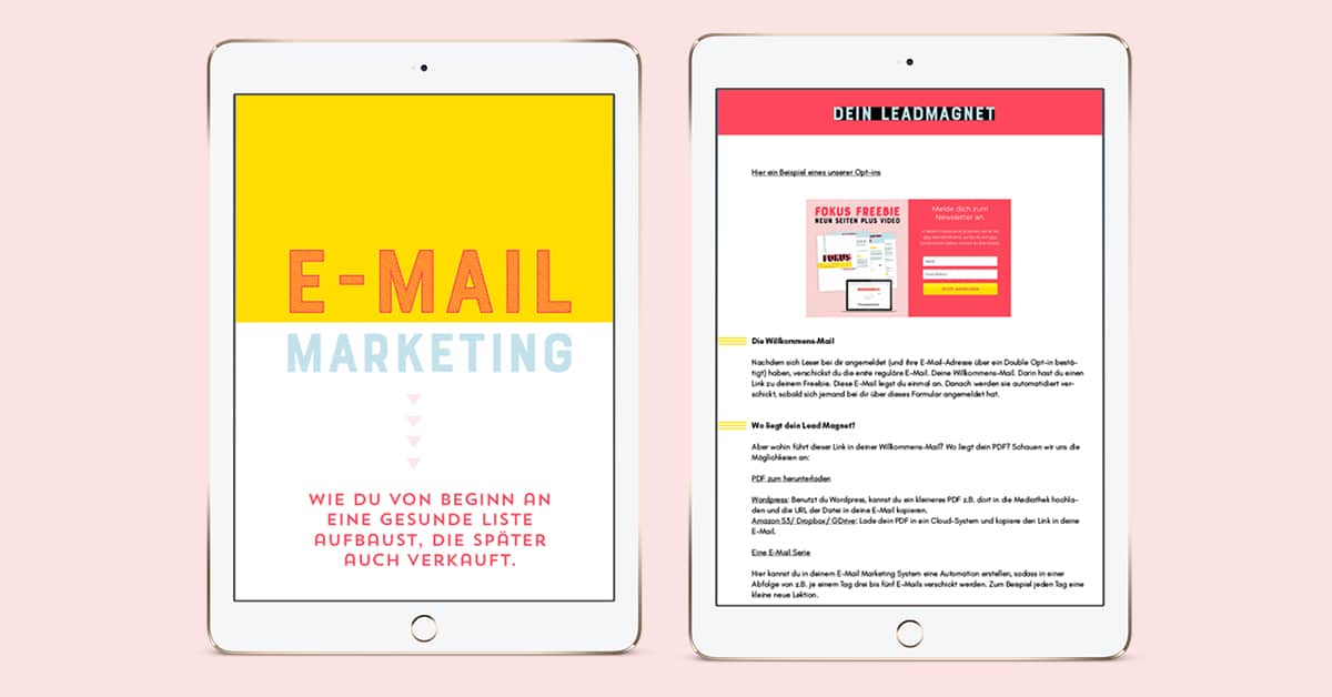 Dein Start ins E-Mail Marketing - Newsletter erstellen - By Johanna Fritz