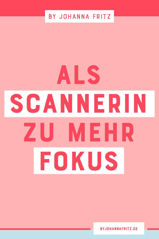 Als Scannerin zu mehr Fokus - Interview mit Anja von FEMboss. By Johanna Fritz