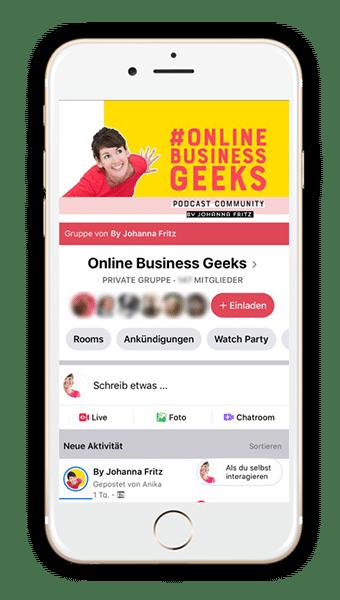 Podcast Online Business Geeks mit Johanna Fritz.