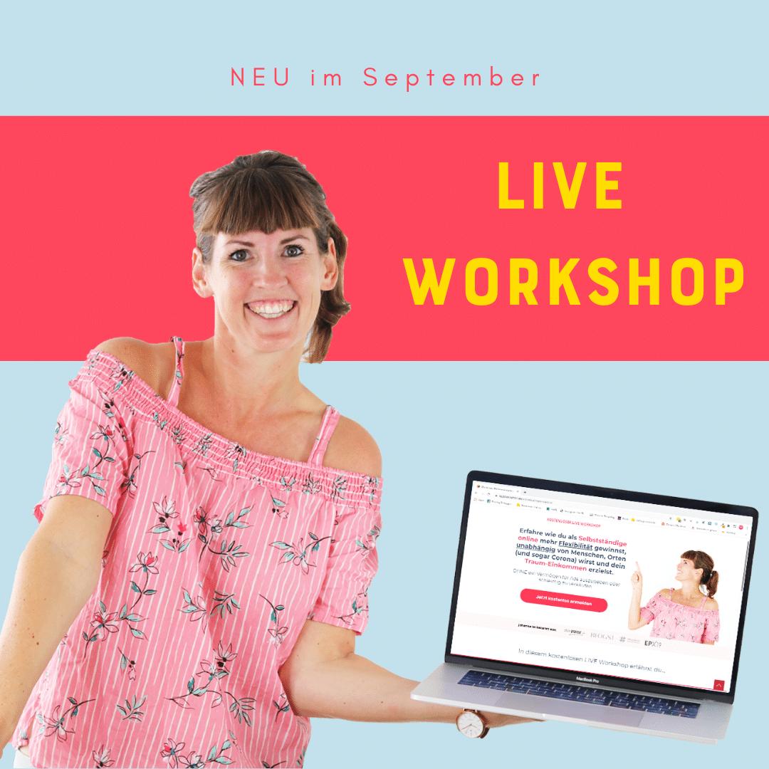 Kostenloer Online Workshop von By Johanna Fritz: Starte und skaliere dein Online Business