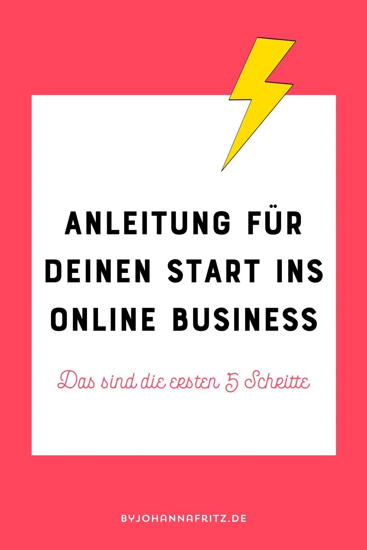 Dein 5 Schritte Fahrplan in die Selbstständigkeit - dein Online Business