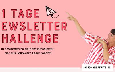 21-Tage Newsletter Challenge