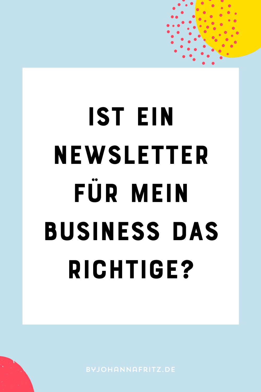 Brauche ich einen newsletter?