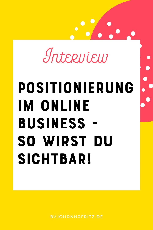 Positionierung als Experte im Online Business - Interview mit TImo Heinz