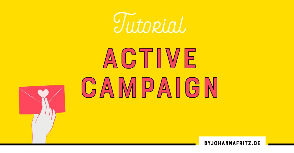 ActiveCampaign Tutorial für Einsteiger