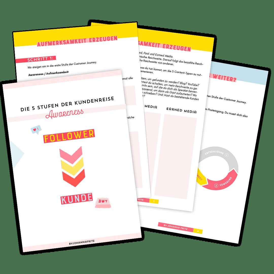 Customer Journey Beispiel: Awareness Phase Worksheet by Johanna Fritz