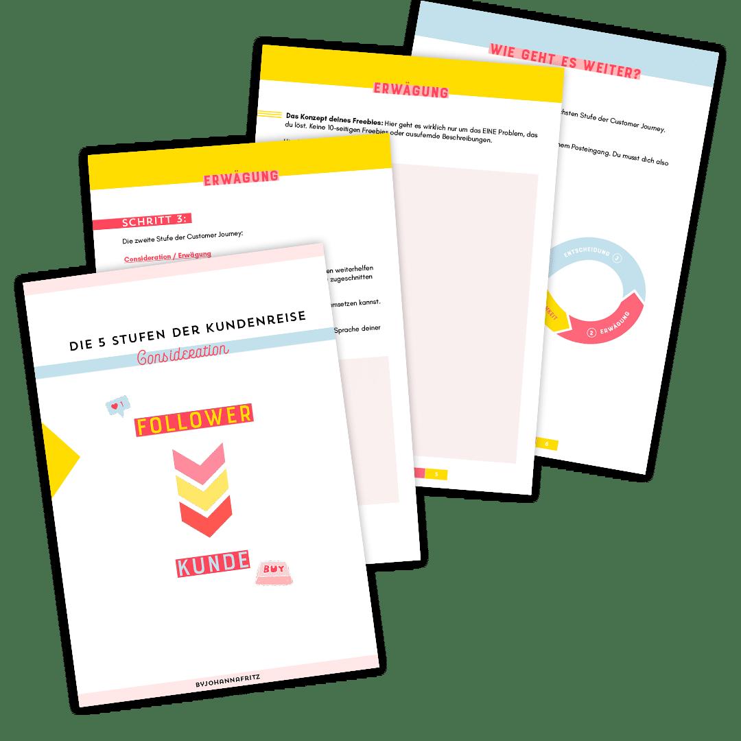 Customer Journey Beispiel: Consideration Phase Worksheet by Johanna Fritz