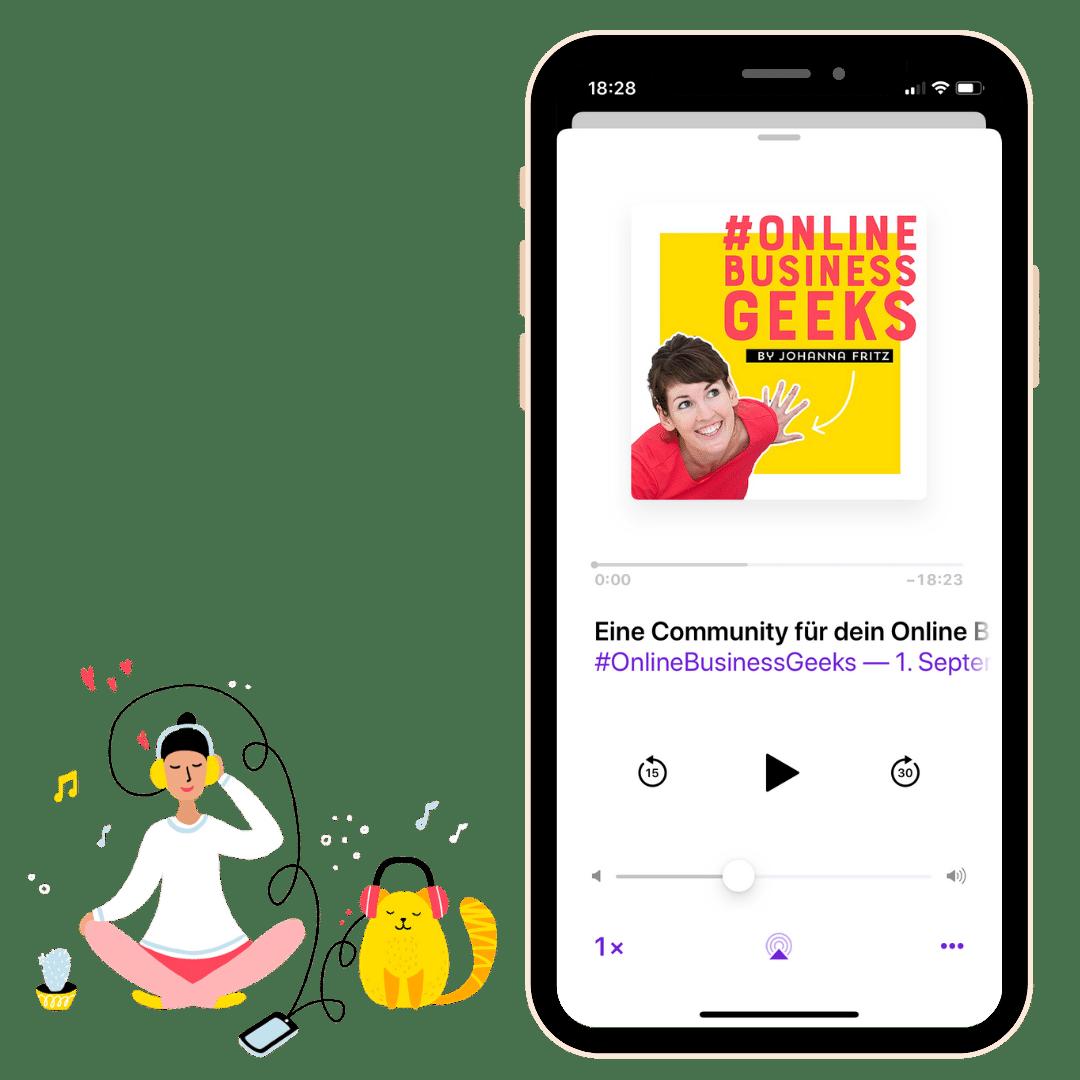Stelle Johanna deine Frage für den Online Business Geeks Podcast