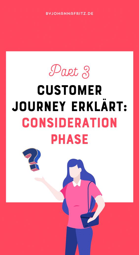 Customer Journey Erklärung Consideration Phase - By Johanna Fritz