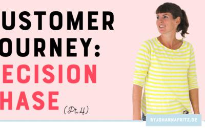 Die fünf Schritte der Customer Journey Teil 4/6 – Decision Phase