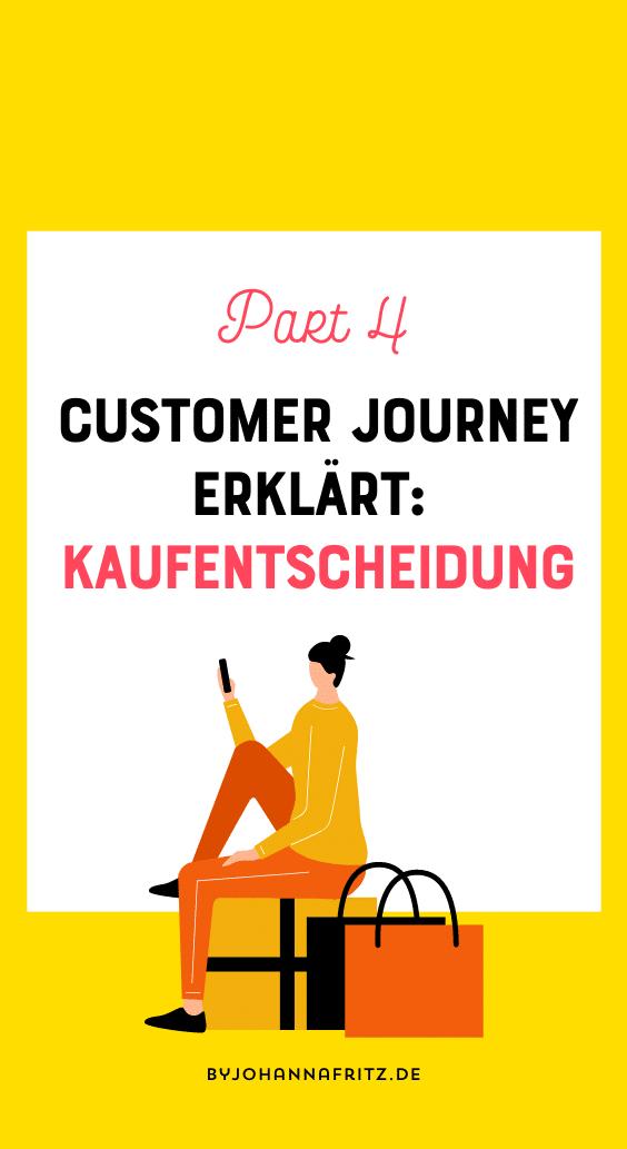 Kaufentscheidung in der Customer Journey - By Johanna Fritz