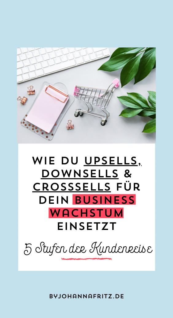 Upsells, Downsells und Crosssells für mehr Verkäufe nutzen - by Johanna Fritz