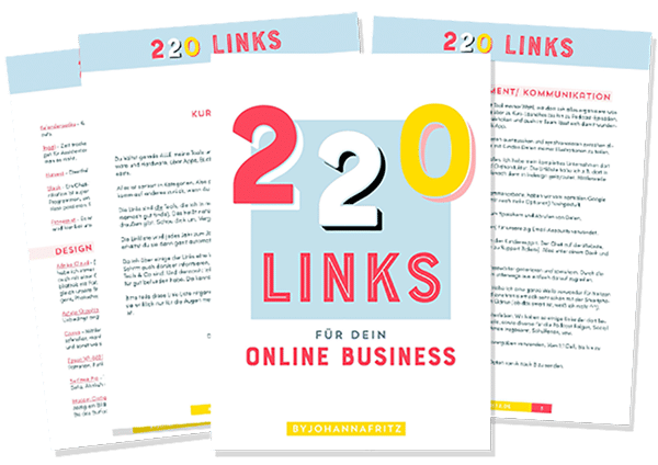Linkliste bon Johanna Fritz - 220 Links für dein Online Business