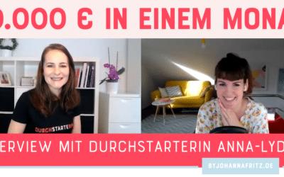 10.000 Euro durch eine Facebook Gruppe – Interview mit Anna-Lydia