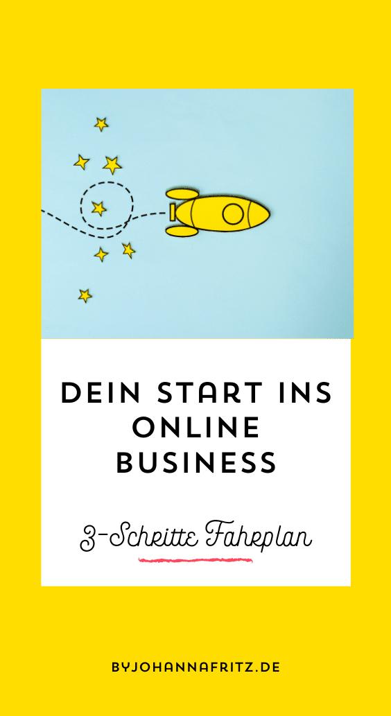 Online Business Start - 3 Schritte Fahrplan - By Johanna Fritz