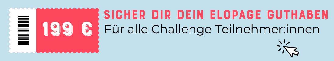 elopage Startguthaben für die Challenge Teilnehmer von Johanna Fritz