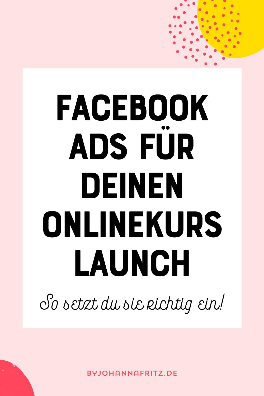 Facebook Ads für den Launch einsetzen - Anna-Lena Eckstein im Interview by Johanna Fritz