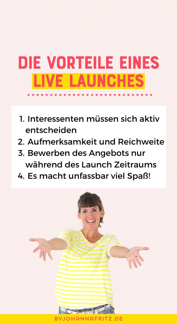 Vorteil von Onlinekurs Live Launches