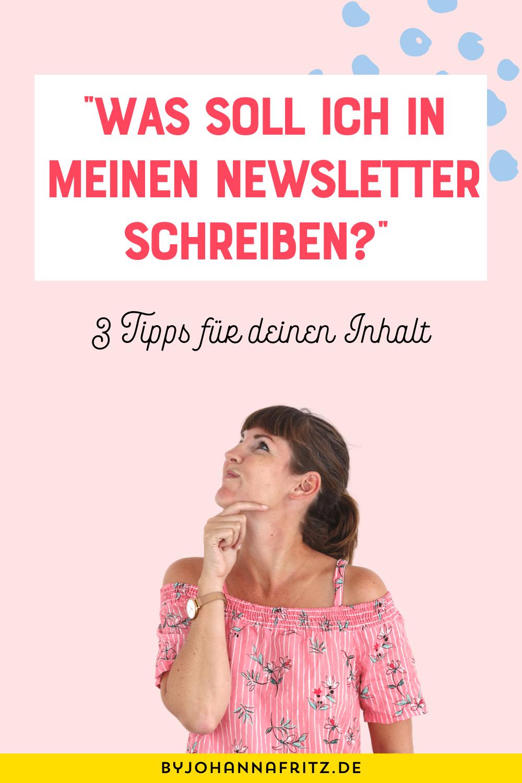 Newsletter schreiben: 3 Dinge, die du vermeiden solltest - By Johanna Fritz