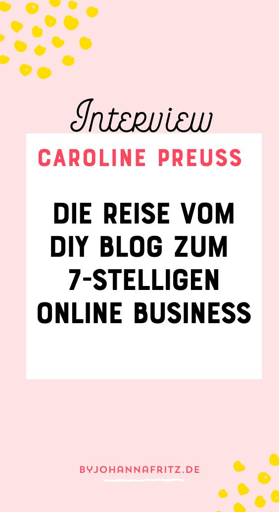 Caroline Preuss: Vom Blog zum Millionen Online Business - Instagram und Online Marketing Expertin - Johanna Fritz