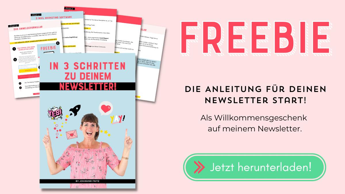 Anleitung für deinen Newsletter Start - Johanna Fritz