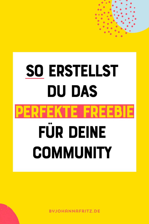So erstellst du das perfekte Freebie für deine Community - Johanna Fritz
